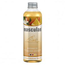 Тонизирующее массажное масло Masculan с цитрусовым ароматом, 200 мл.