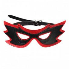 """Кожаная маска на глаза """"Бабочка"""" с металлической пряжкой"""