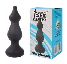 Небольшая рельефная анальная втулка Sex Expert, (10,3 см)
