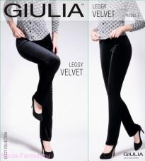 Леггинсы черные Giulia LEGGY VELVET 03 , XS (40-42)