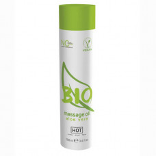 Массажное масло HOT BIO Massage oil aloe vera, аромат алоэ вера (100 мл)